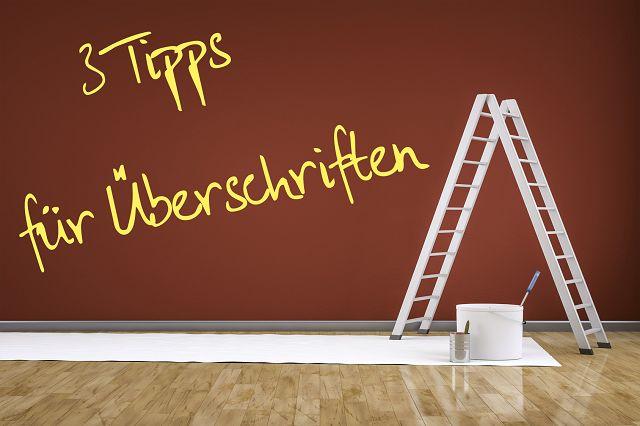 3 Tipps für Überschriften - Reuter.marketing